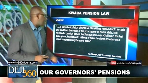Revealed: A Look at the Insane Pension Package Paid to Bukola Saraki as Ex Former Governor of Kwara
