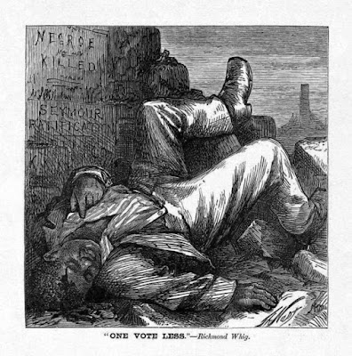 """""""One Less Vote,"""" by Thomas Nast, 1868"""