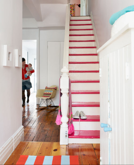 Painted Staircase: AREA FARE: FRIDAY FEATURE: The Humble Abode