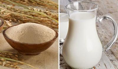 sữa chua và bột gạo 1