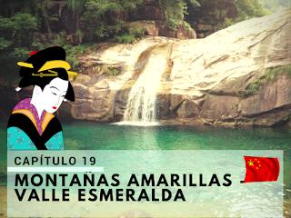 visitando las montañas amarillas y el valle esmeralda