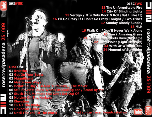 RELIQUARY: U2 [2009 10 25] First Concert Broadcast on