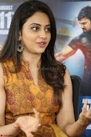 Rakul Preet Singh smiling Beautyin Brown Deep neck Sleeveless Gown at her interview 2.8.17 ~  Exclusive Celebrities Galleries 141.JPG