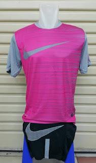 gambar detail baju futsal terbaru Jersey setelan futsal Nike Flash Top warna abu-abu pink terbaru 2015/2016
