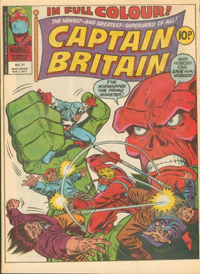 Marvel UK, Captain Britain #21, The Red Skull