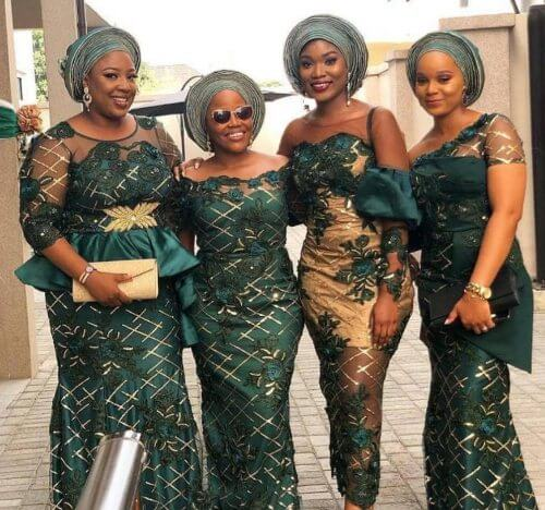 21 Pretty Traditional Aso Ebi Lace Dresses for African Weddings