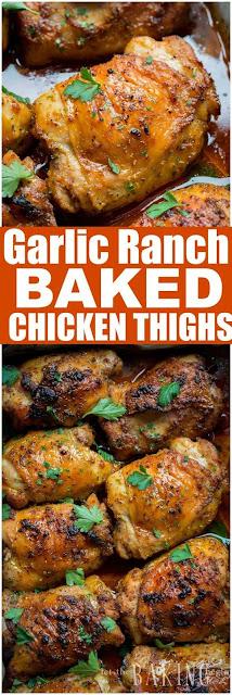 Garlic Ranch Baked Chicken Thighs
