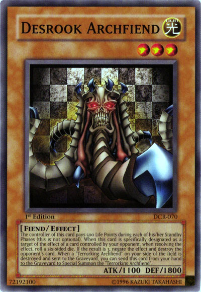 Desrook Archfiend - Monster Card