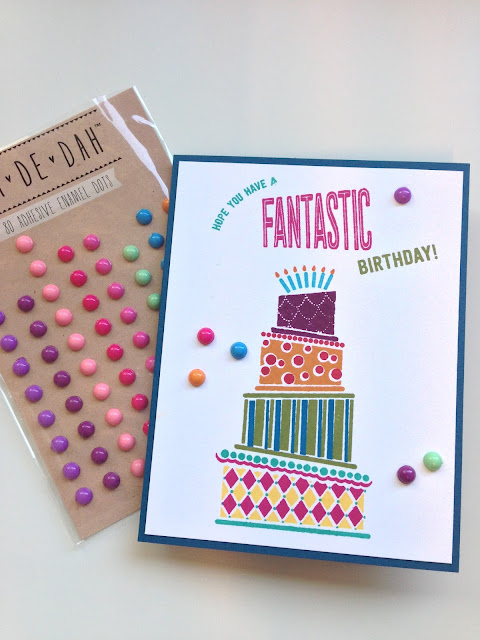 Stampin' Up! Cake Crazy Birthday Card