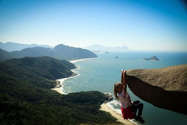 And yes, this rock in Pedra Branca, Brazil actually is 984 feet above the beach. - This Viral Photo Inspired Copycats, But There's Something You Should Know…