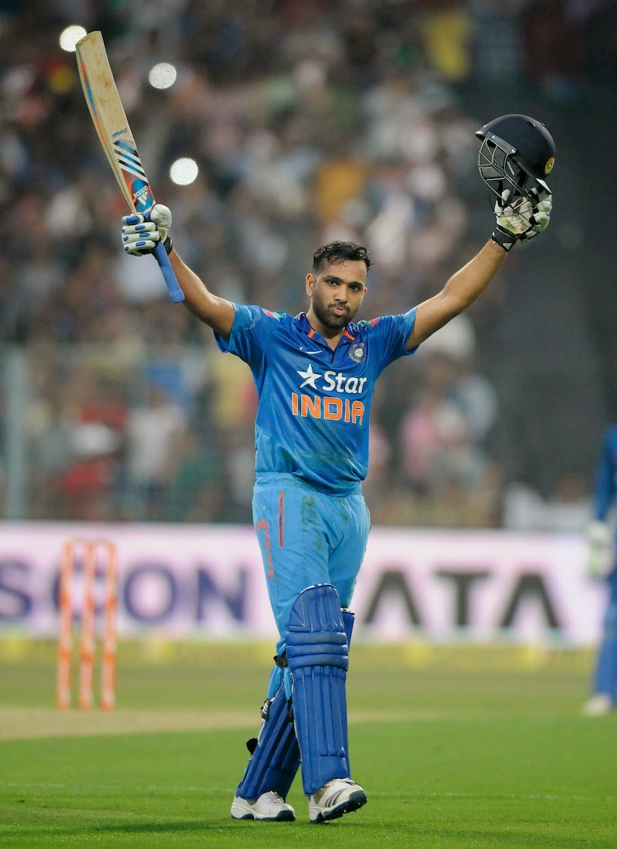 Rohit Sharma Celebrating his double hundred at Eden Gardens
