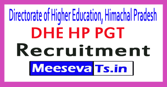 Directorate Office of Higher Education Department, Himachal Pradesh Post Graduate Teacher Recruitment 2017