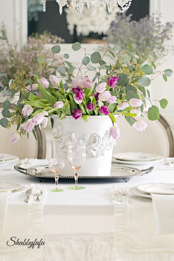 shabby chic easter table
