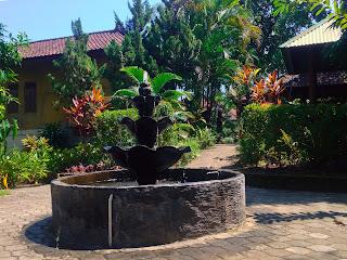 Garden with Water Fountains Brahmavihara Arama North Bali