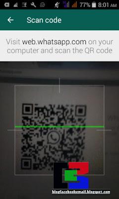cara scan QR code  untuk masuk ke WhatsApp PC