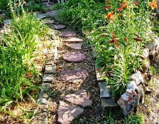 Lily garden by garden path that was designed by Sgolis