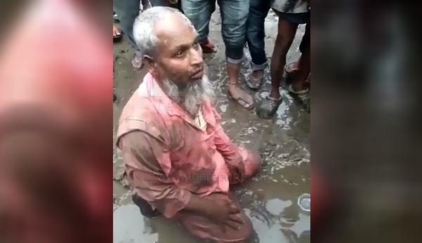 Lelaki tua (muslim) dibelasah kerana jual daging lembu sebelum dipaksa makan daging babi
