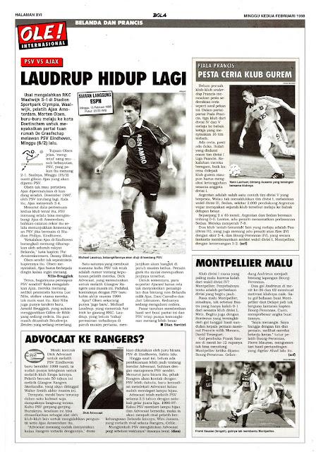 PSV EINDHOVEN VS AJAX AMSTERDAM LAUDRUP