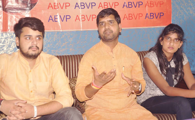 ABVP will bring hard work, this year will be the student union elections in Haryana; Sunil bharadwaj