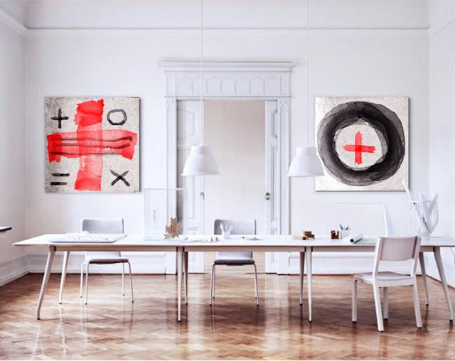cuadros modernos pintados a mano