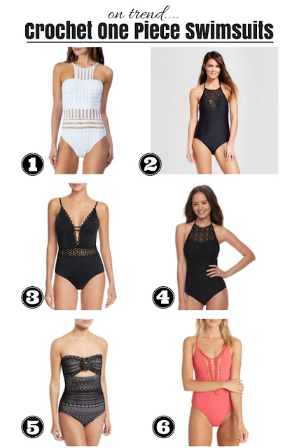 On trend: Crochet one piece swimsuits for women