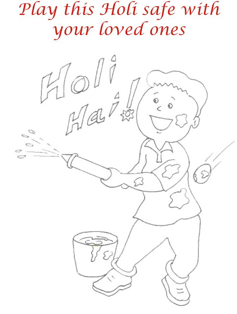 Blank Happy Holi Photos for Drawing