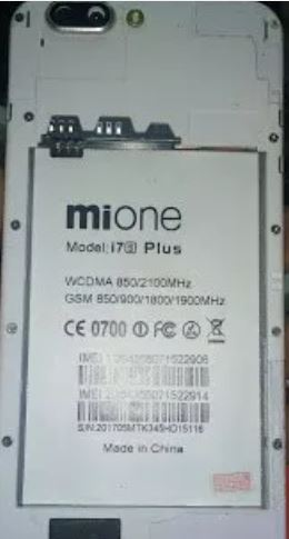 Mione i7s Plus Flash File Stock Rom MT6580_5 1 Dead Recovery