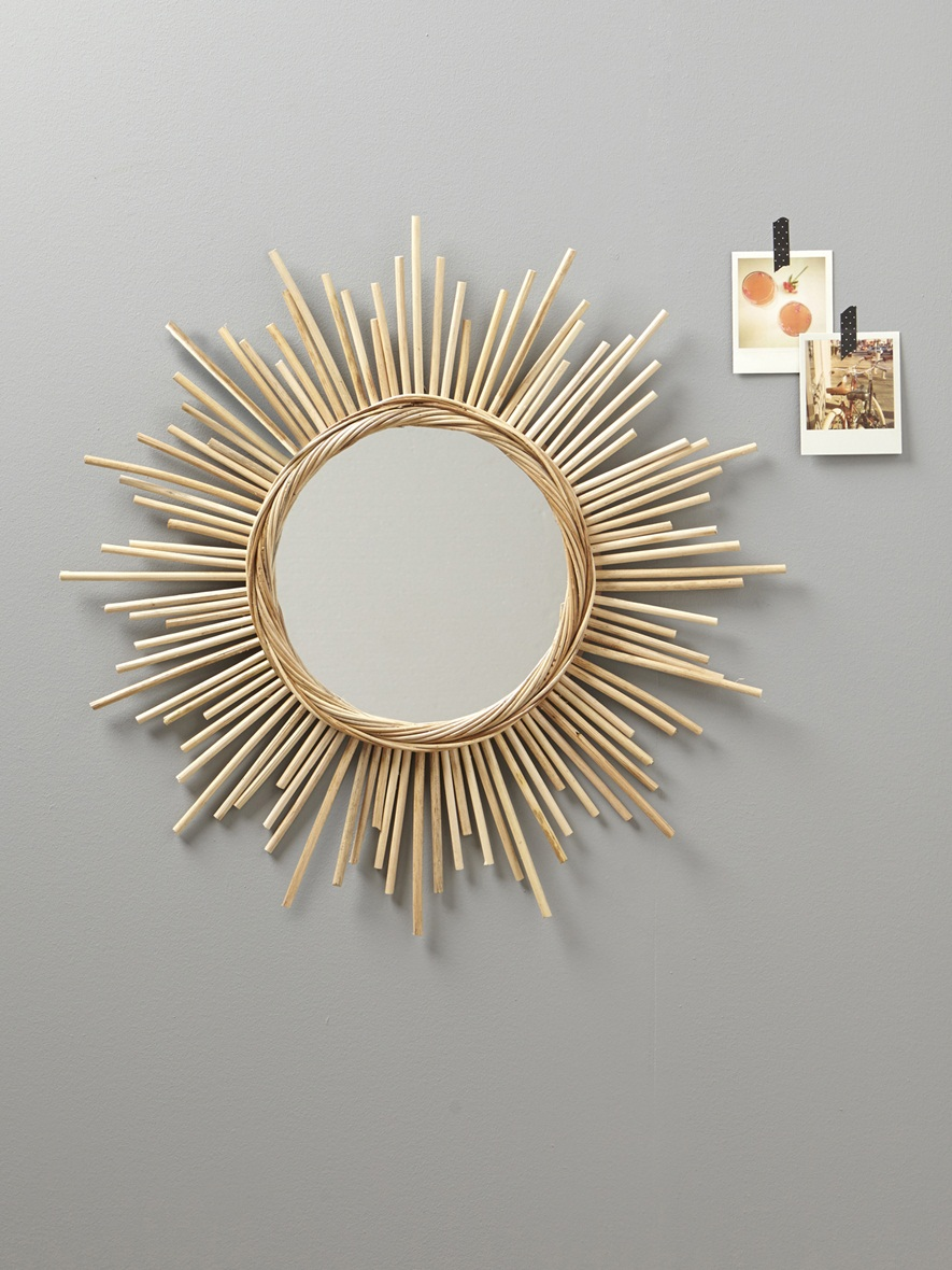 D co un miroir style vintage en paille by ma lae for Miroir zodio