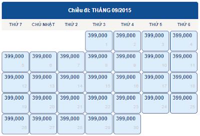 Bang gia ve di Hai Phong thang 9/2015