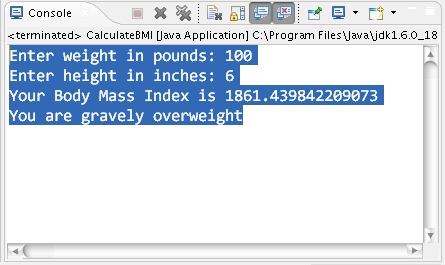 How to calculate BMI of body in Java ? | Learn Java by Examples