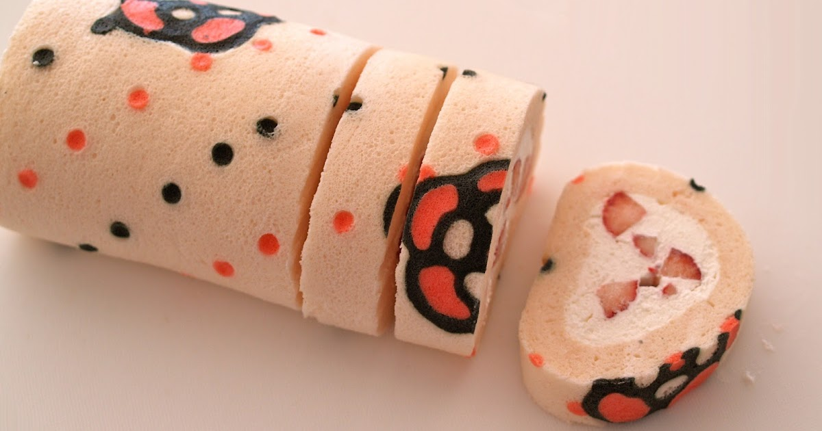 Decorated Roll Cake Recipe Book Pattern