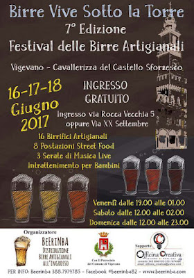 Birre vive sotto la torre 16-17-18 giugno Vigevano (PV)
