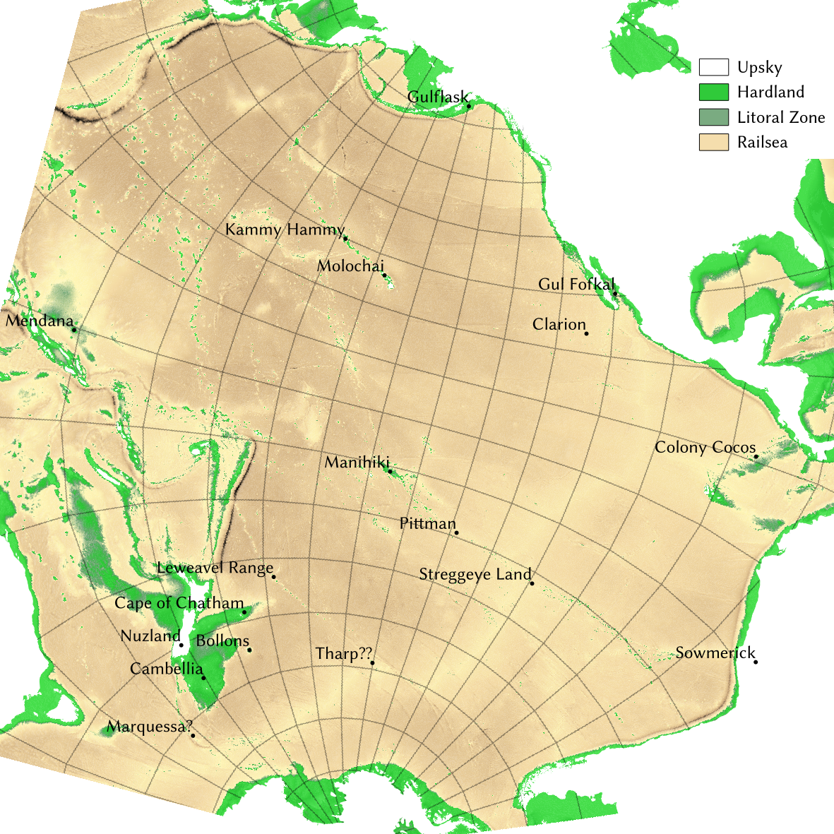 Lake Hermanstadt: A Working Map of the Railsea on