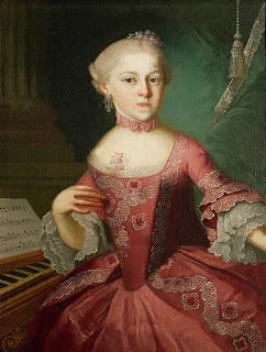 Retrato de Maria Anna Mozart (1751-1829), por Pietro Antonio Lorenzoni.