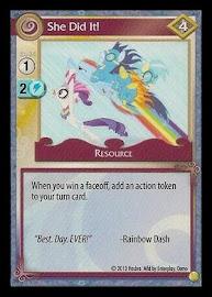 My Little Pony She Did It! GenCon CCG Card