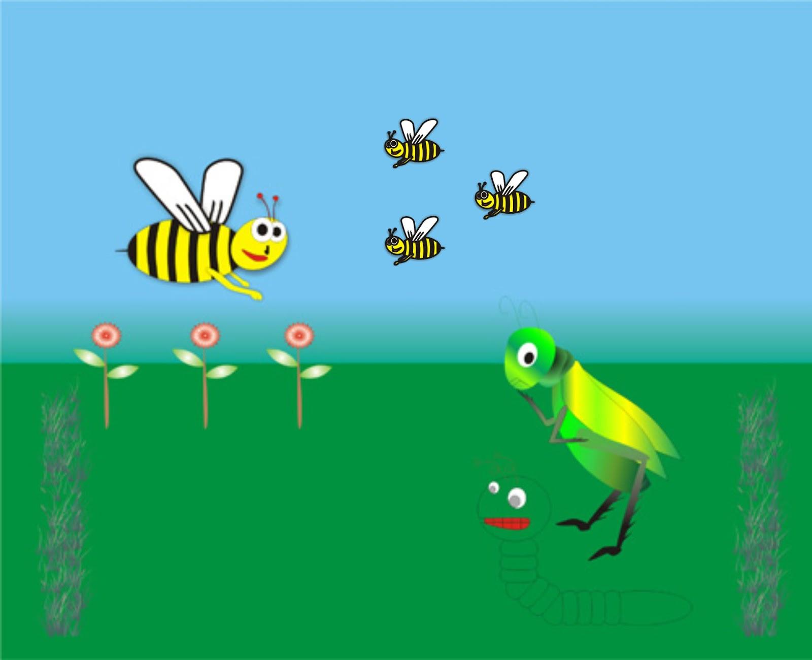 Belalang Dan Pasukan Ratu Lebah Cerita Tentang Semut