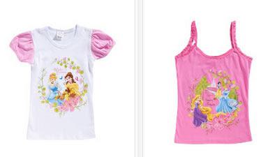Camiseta y top de tirantes de princesas Disney