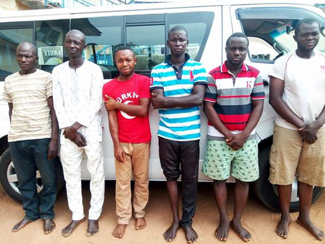 Photos: Company drivers report vehicle stolen in Benue State after conspiring to stage robbery incident so they could sell it