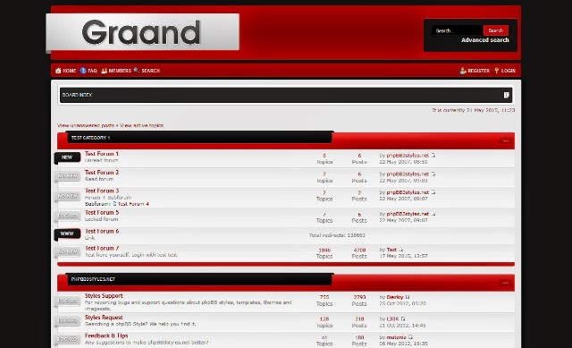 Graand (Red) - Free phpBB3 Theme