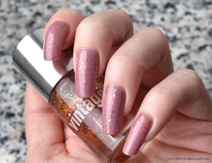 essence Vintage Style Top Coat Swatch