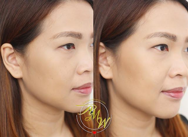 a photo of AskMeWhats Nikki Tiu wearing Maybelline V-Face Duo Powder by FaceStudio Medium Dark