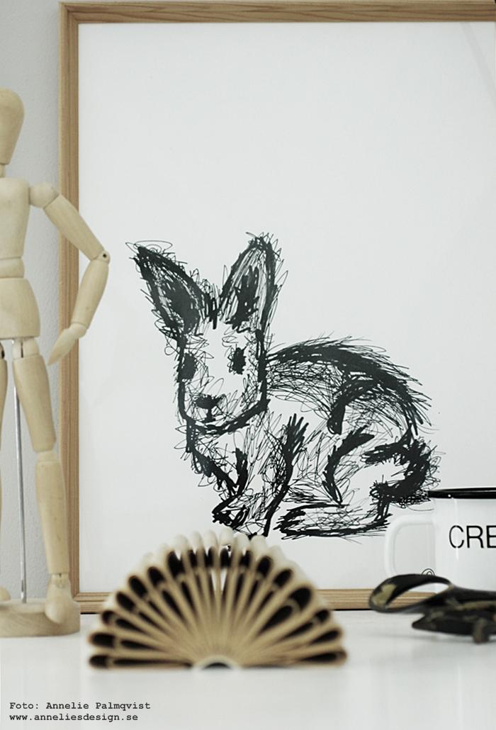 kanin, kaniner, kaninerna, tavla, tavlor, poster, posters, print, prints, konsttryck, annelie palmqvist, svartvit, svartvita, svart och vitt, barnrum, barnrummet, inspiration, inredning, annelies design, webbutik, webshop, nettbutikk, nettbutikker, plakat, plakater, vitt,