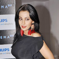 Asha saini in black dress