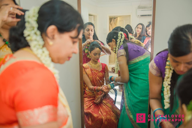 preparing the bride