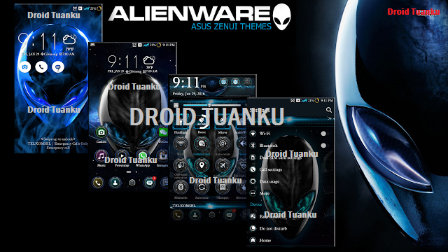 Alien Ware Themes For Zenfone 5