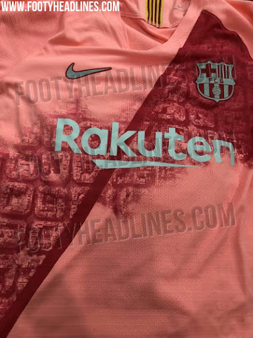 8af44440abc The Rakuten logo on the Barcelona 2018-2019 third shirt is white, which is  not ideal for legibility but helps keep the design streamlined.