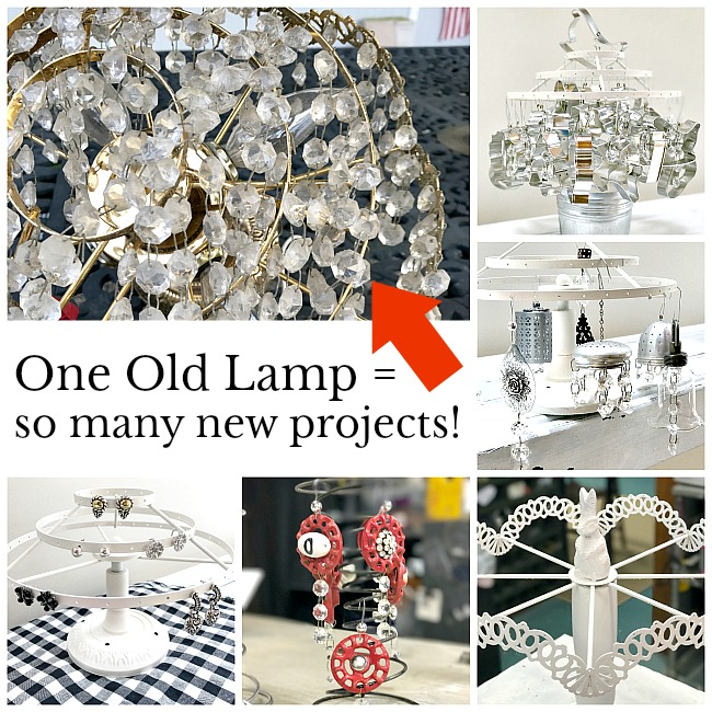 repurposed projects using an old lamp