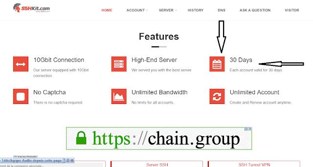 créer un compte ssh gratuit