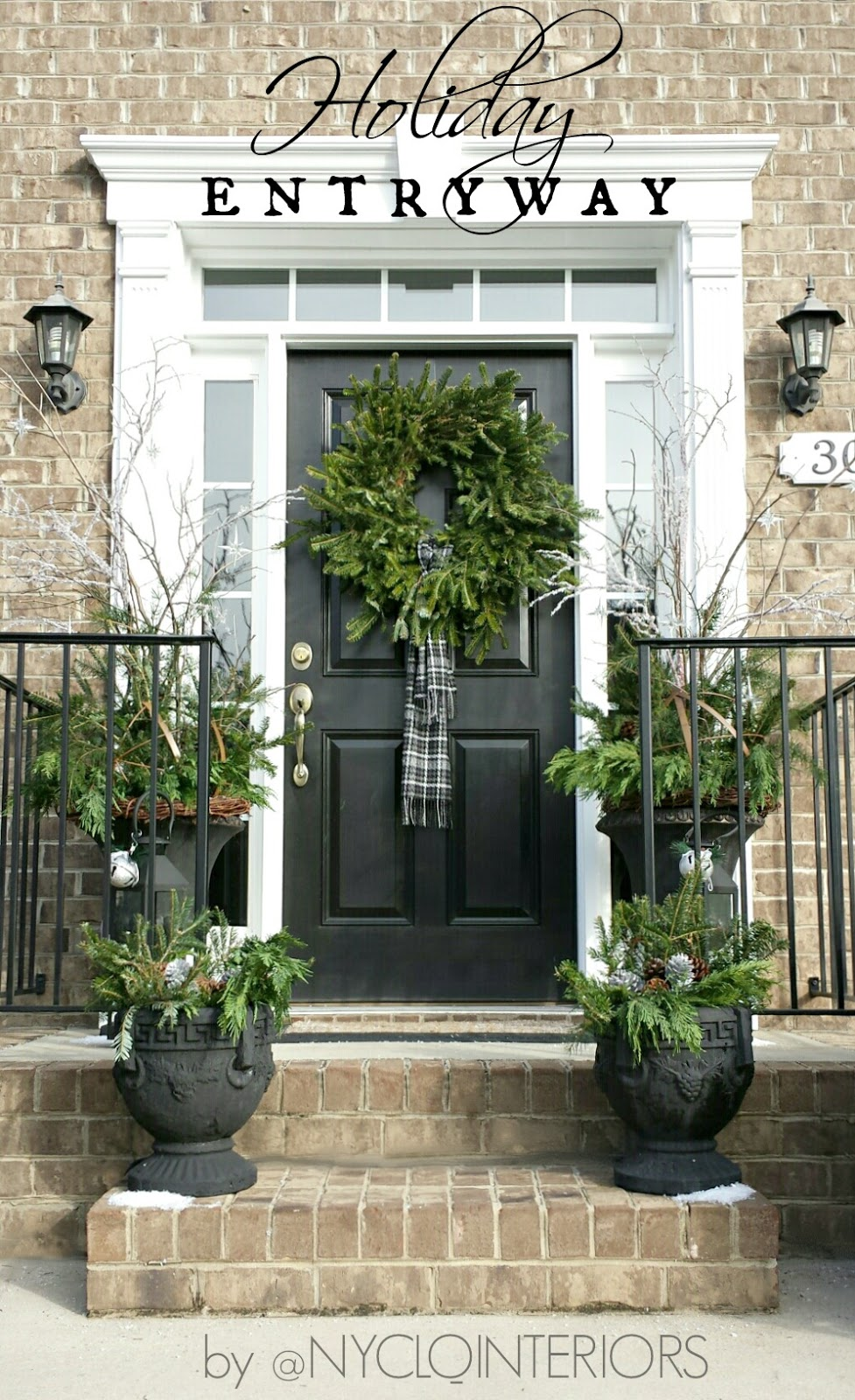 Focal Point Styling Outdoor Holiday Entry With Urns