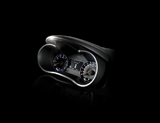 Cụm đồng hồ hiển thị của Kia Cerato 2017 thể thao hiển thị sắc nét.